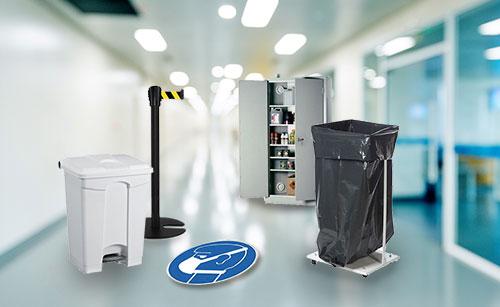 Hygiejneartikler og produkter til et sikkert arbejdsmiljø