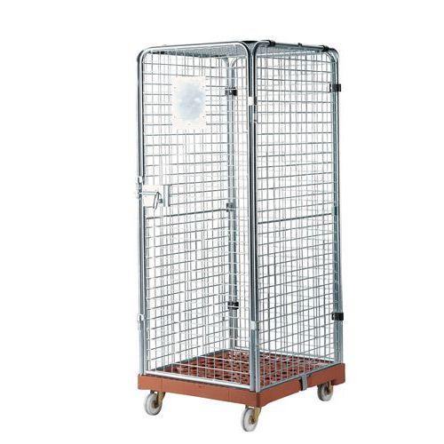 Rullecontainer plastunderstel låsbar