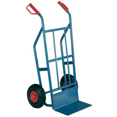Magasinvogn 500 kg luftgummihjul, blå