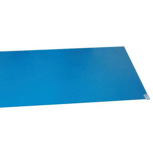 Klæbemåtte blå
