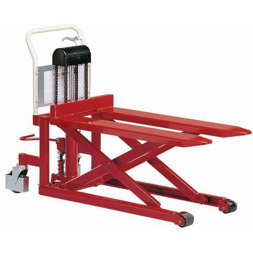 Palleløfter til høje løft - 1080 mm gafler - 500 kg - Manutan