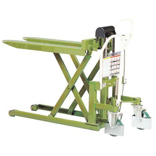 Palleløfter til høje løft - 1080 mm gafler - 1000kg - Manutan