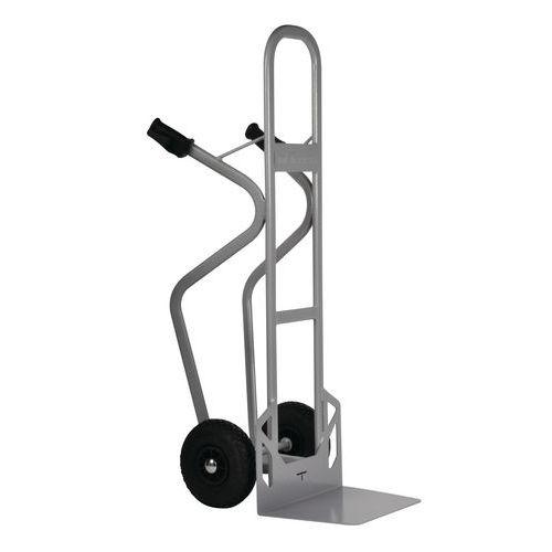 Stålsækkevogn - pneumatiske hjul - kapacitet 350 kg