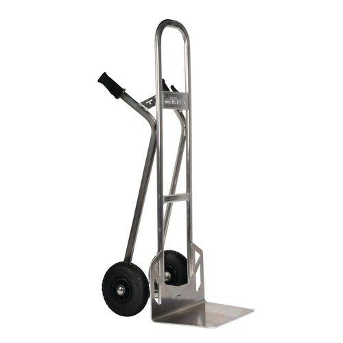 Aluminiumsækkevogn - pneumatiske hjul - kapacitet 350kg