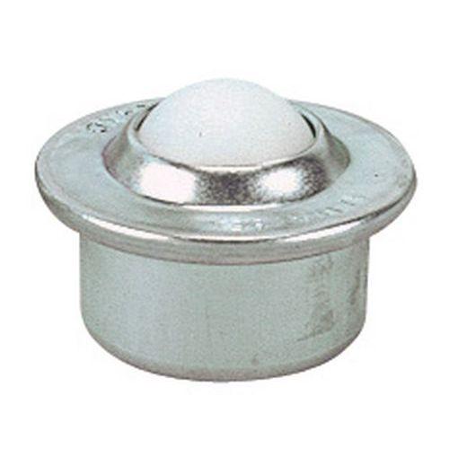 Kuglerulle med plastickugle, diameter 15 - 22 mm