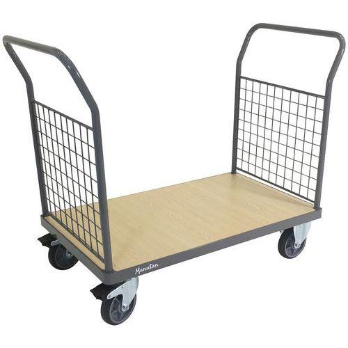 Chariot 2 parois grillagées - Capacité 500 kg - Manutan