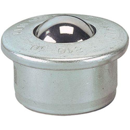 Kuglerulle med stålkugle, diameter 15 - 30 mm