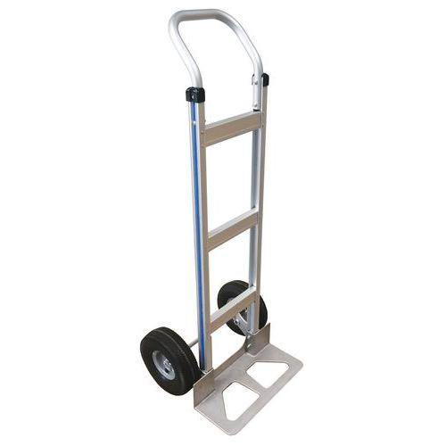 Aluminiumsækkevogn - halvpneumatiske hjul - kapacitet 150kg