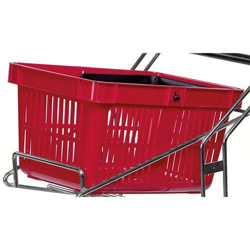 Indkøbskurv röd