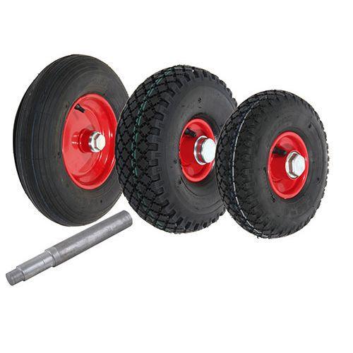 Luftgummihjul med stålfælg