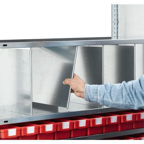 Skilleplade 2 stk. Lagerreol Easy-Fix
