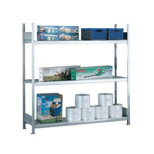 Bredfagsreol Easy-Fix: Grundsektion med stålhylder