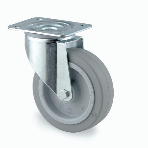 Industrihjul, elastisk gummi